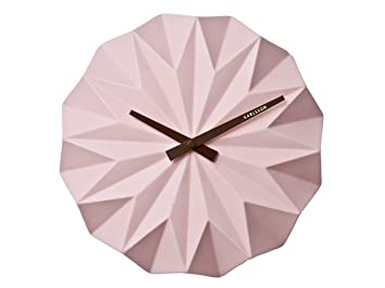 Karlsson Uhr karlsson ka5531pi clock chrome light pink amazon co uk kitchen home