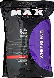 Whey Blend - Refil Morango, Max Titanium, 2000 g