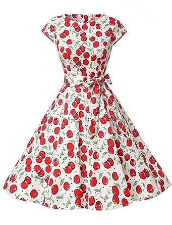 Dressystar Vestito a  Audrey Hepburn  Classico Vintage 50  S 60  S ... f19b5725f8a