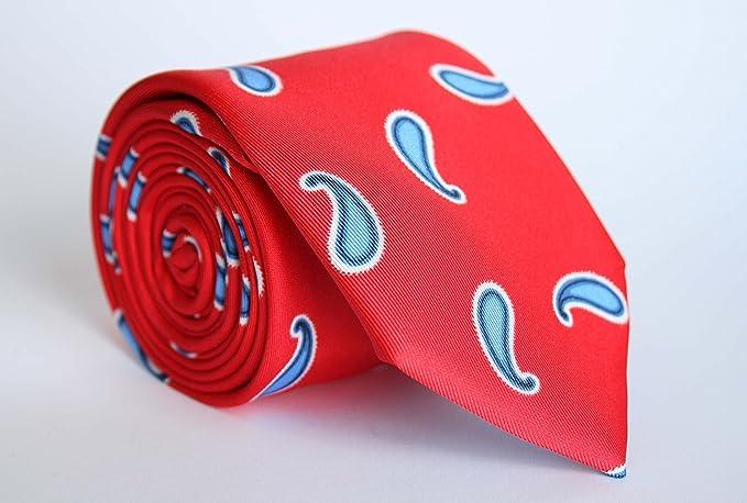 Alvaro Moreno, Corbata Estampada, color Rojo: Amazon.es: Ropa y accesorios