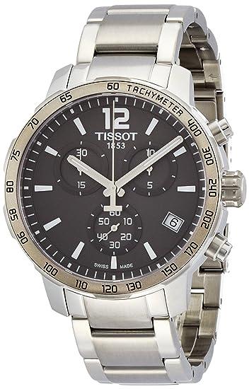 Reloj de Pulsera Tissot para Hombre, cronógrafo, Cuarzo, Acero Inoxidable T095.417.11.067.00: Amazon.es: Relojes