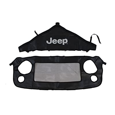 Genuine Jeep Accessories 82210318AB Front End Cover Black With Jeep logo: Automotive