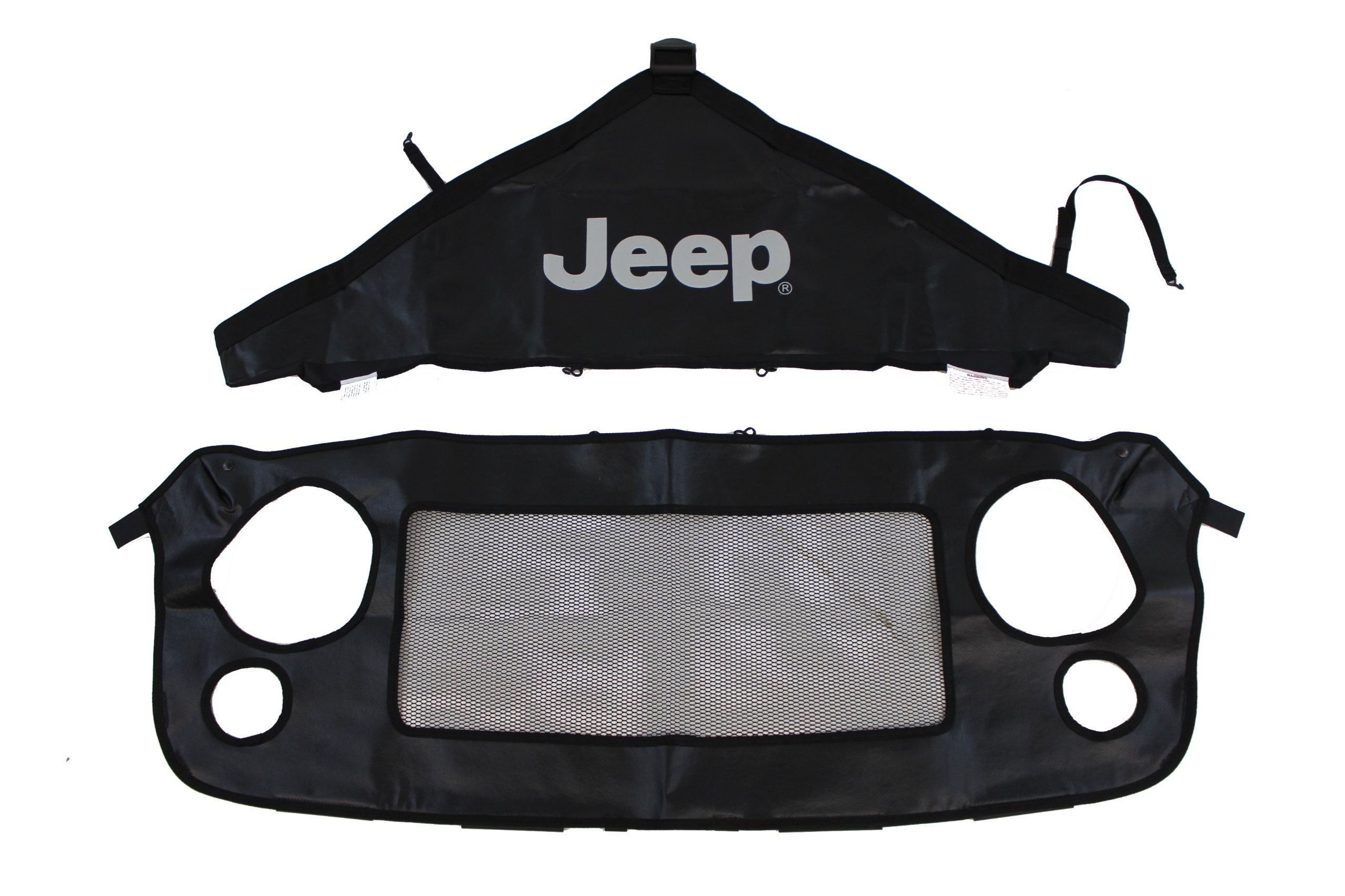 Genuine Jeep Accessories 82210318AB Front End Cover Black With Jeep logo