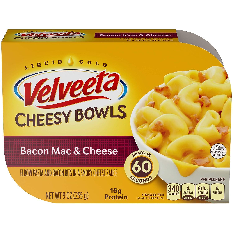Velveeta Cheesy Bowls Bacon Mac and Cheese (9 oz Box)