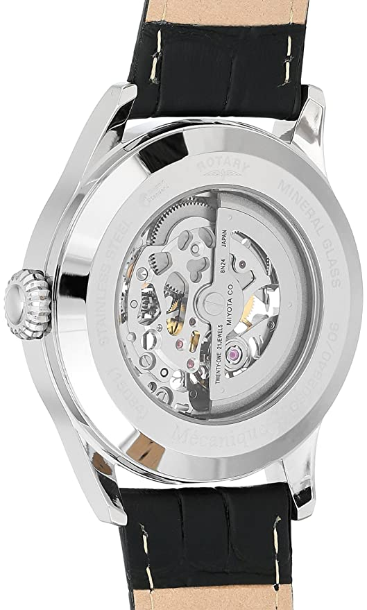 64a9988bd5fe Rotary Men s Analog Automatic-self-Wind Watch with Leather Calfskin Strap  GS02940 06  Amazon.co.uk  Watches