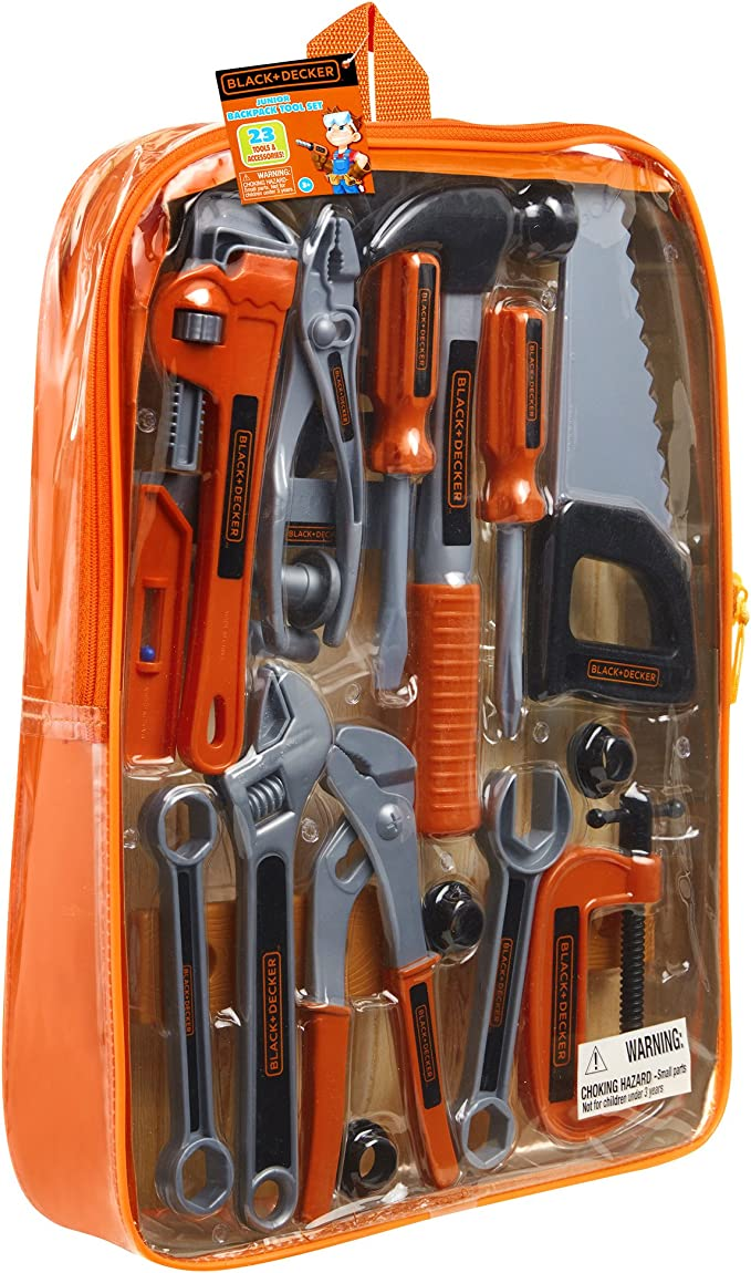 Black And Decker Junior Mochila Tool Set: Amazon.es: Juguetes y juegos