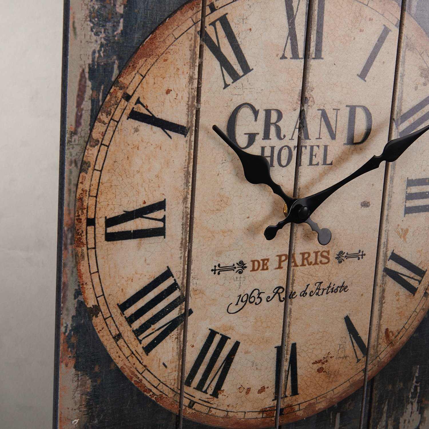 LightInTheBox 15''H Country Style Brown Indoor Analog Wall Clock Home Decor Design Wall Clocks by LightInTheBox (Image #2)