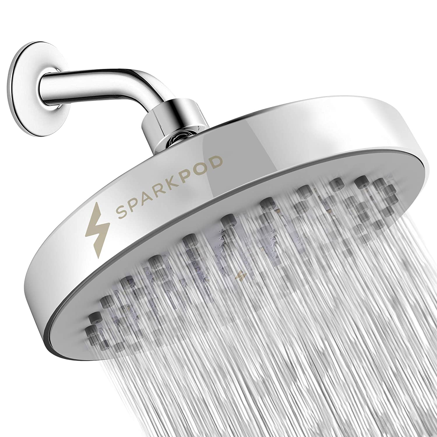85bebfd3713 SparkPod Shower Head - High Pressure Rain - Luxury Modern Look - Easy Tool  Free Installation - The Perfect Adjustable   Heavy Duty Universal  Replacement For ...
