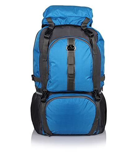 d11bb5a2545f Bag-Age 60 Ltr Blue Rucksack  Amazon.in  Bags