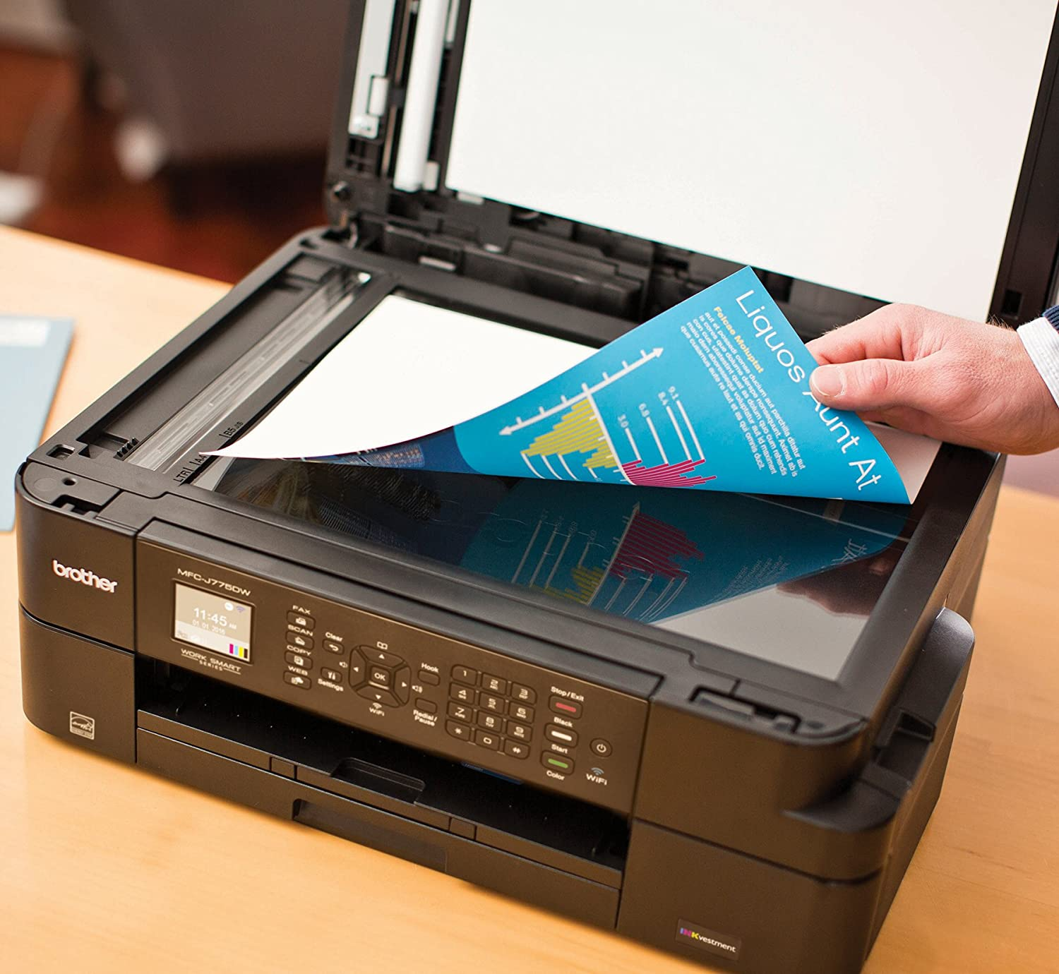 Black Brother INKvestment MFC-J775DWXL Wireless All-in-One Printer