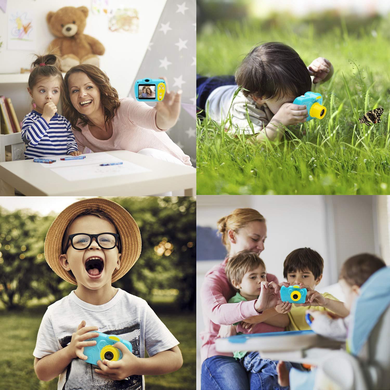 SIKVIO Mini 2.0 Inch Screen Kids Childrens Digital Camera,1080P HD Mini Digital Video Recorder Camcorder Camera with Loop Recording 16GB Cards for Boys Girls by SIKVIO (Image #5)