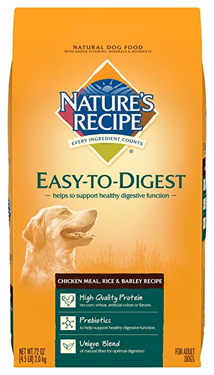 Amazon natures recipe easy to digest dry dog food chicken natures recipe easy to digest dry dog food chicken meal rice barley recipe forumfinder Choice Image