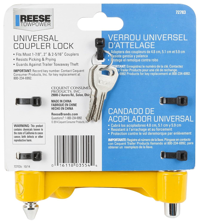 Amazon.com: ReeseTowpower 72783 - Cerradura de acoplador ...