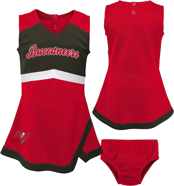 NFL by Outerstuff NFL Girls Kids /& Youth Girls Cheer Captain Jumper Dress