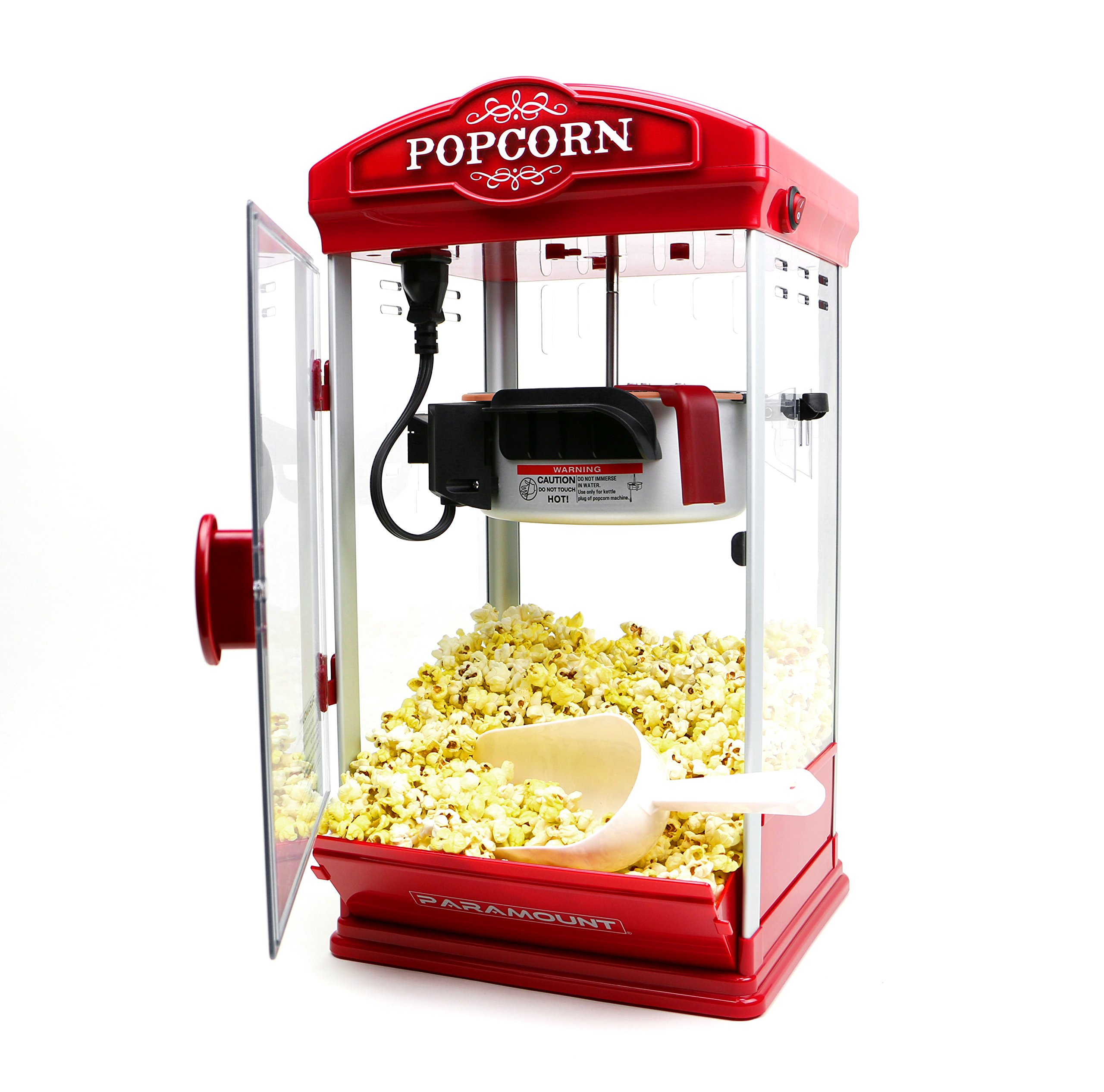 Popcorn Maker Machine by Paramount - New 8oz Capacity Hot-Oil Popper [Color: Red] by Paramount