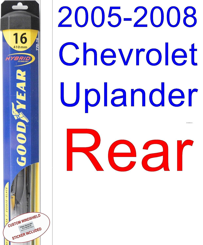 2005 - 2008 Chevrolet Uplander hoja de limpiaparabrisas de repuesto Set/Kit (Goodyear limpiaparabrisas blades-hybrid) (2006,2007): Amazon.es: Coche y moto