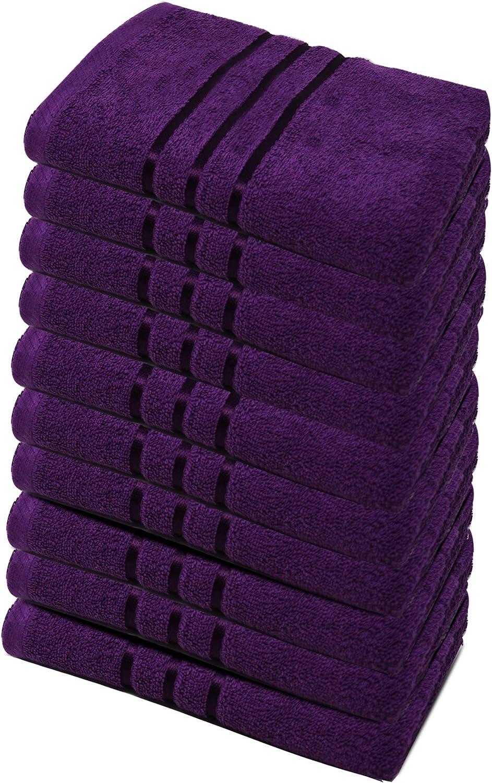 sehr weich und saugstark Gesicht Hand Towelogy/® Handtuch Set aus 100 /% /ägyptischer Baumwolle Fitnessstudio und Spa vielseitig einsetzbar f/ür Bad 500 g//m/² blaugr/ün Handtuch 2er-Packung
