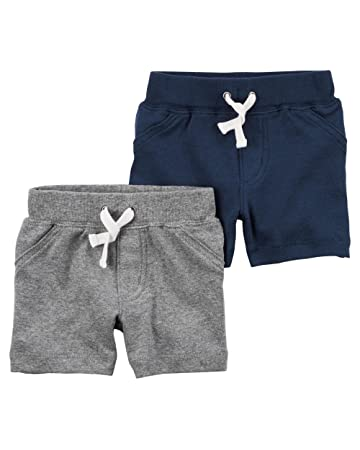 61af81d20 Amazon.com: Carter's Baby Boys' 2 Pack Pants, Grey/Navy Shorts, 12 ...