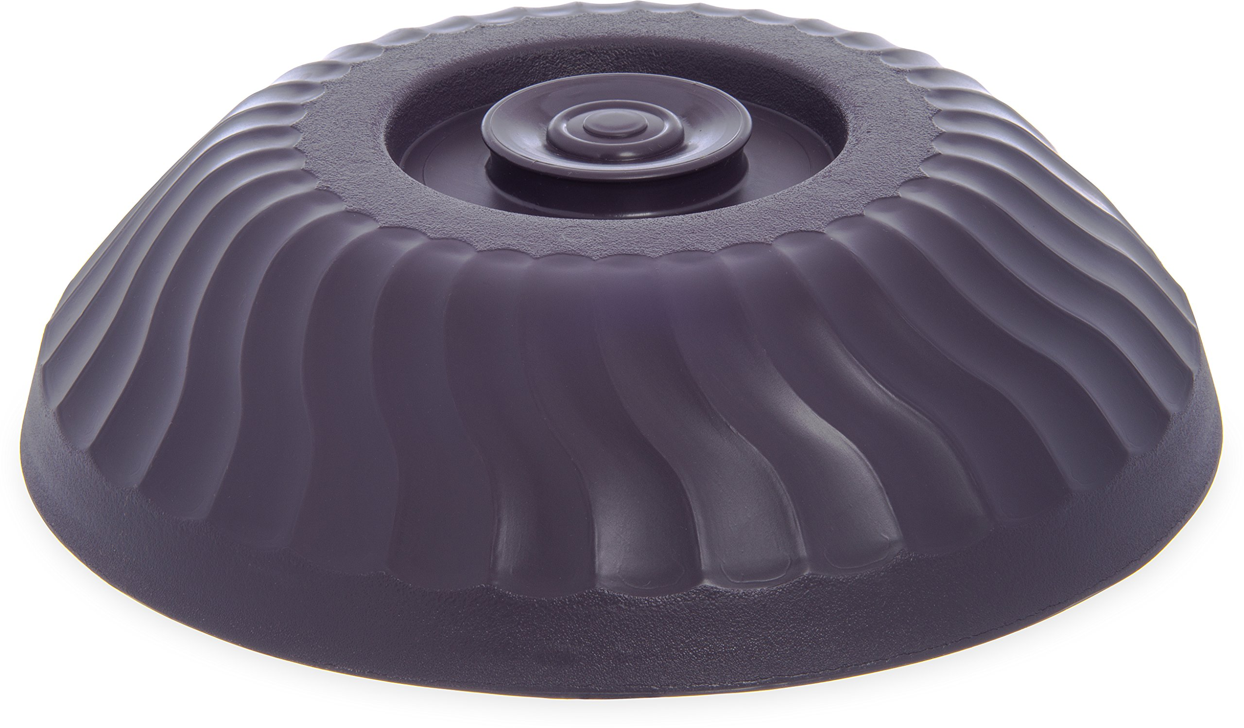 Dinex DX340068 Turnbury Insulated Plate Dome Cover, 2.88'' Height, 10'' Width, 10'' Length, Urethane Foam, Napoli Plum (Pack of 12)