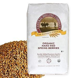 100% Organic Hard Red Spring Wheat Berries- 25 lbs