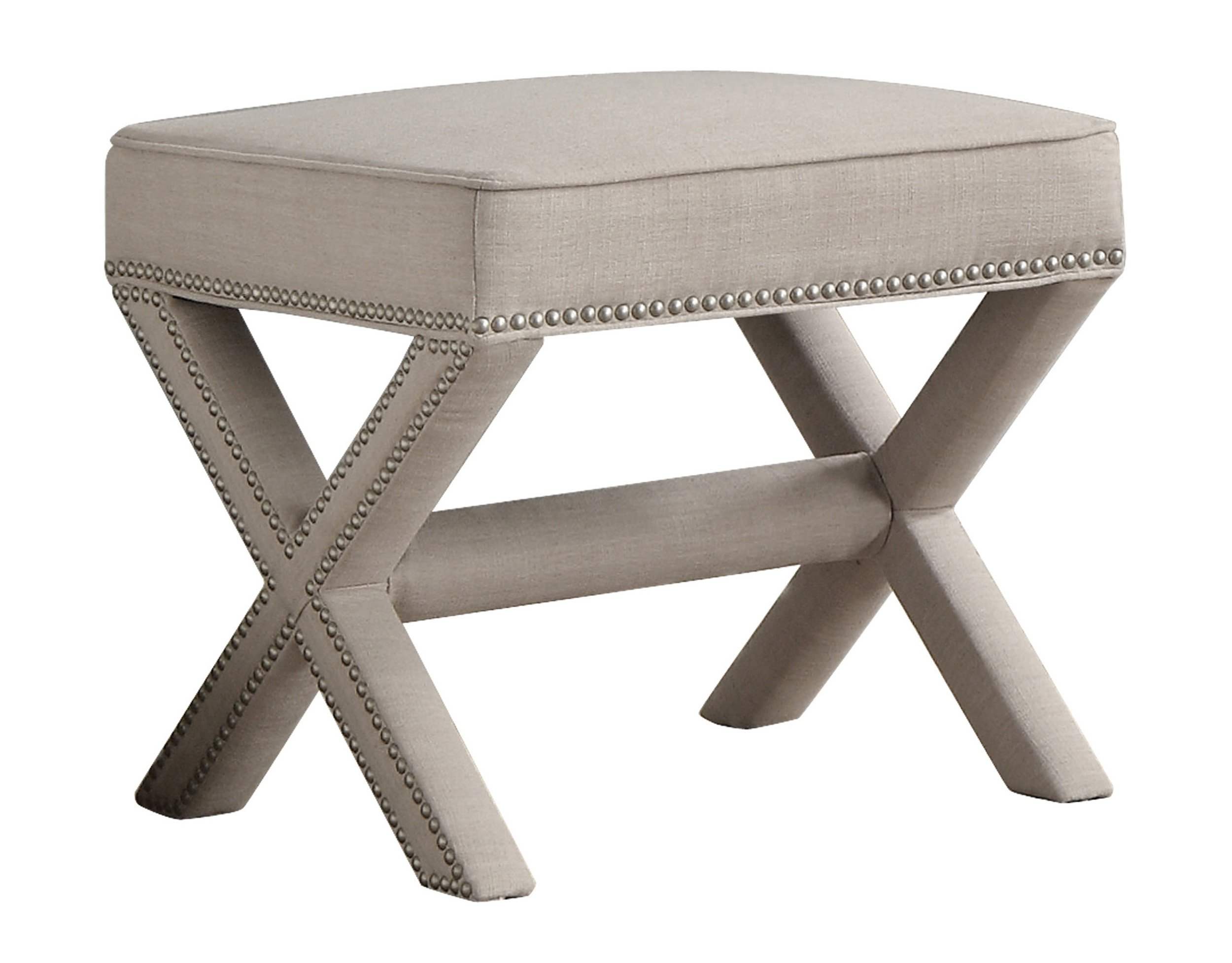 Homelegance Recife Fully Upholstered Accent Ottoman, Beige