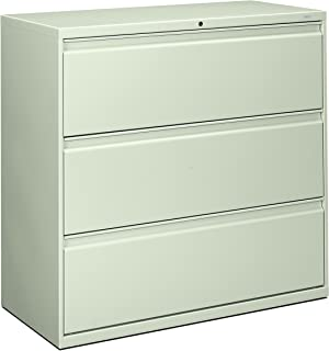 product image for HON 893LQ 800 Series 42 by 19-1/4-Inch 3-Drawer Lateral File, Light Gray