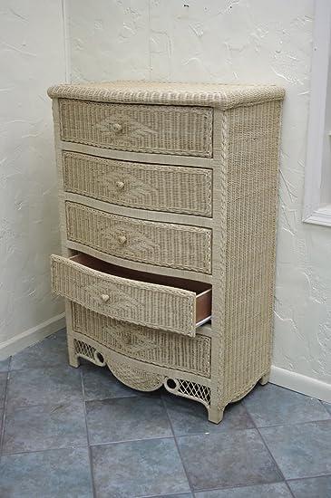 New Wicker Furniture Charlotte 5 Drawer Dresser (Natural)