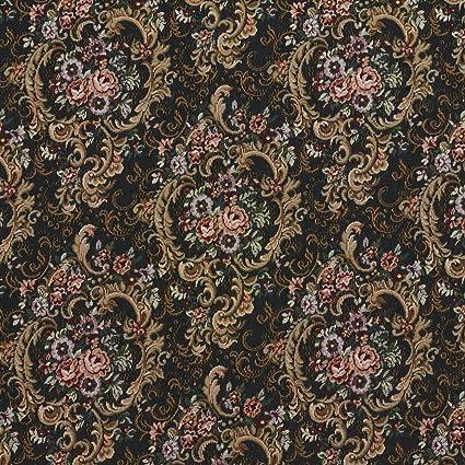 Amazon Com Onyx Black And Burgundy Brown Vintage Floral Victorian
