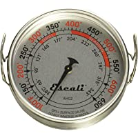 Termómetro Escali AHG2 extragrande para superficie de parrilla directa, rango de 100 a 600 °F, color plateado