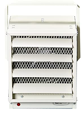 NewAir G73 Hardwired Electric Garage Heater, 17060 BTUs, Ivory