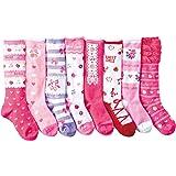 (コナミヤ) Konamiya 女の子 靴下 ガーリイな姫系ハイソックス 8/10足セット のびのびソックス 子供 キッズ ガール