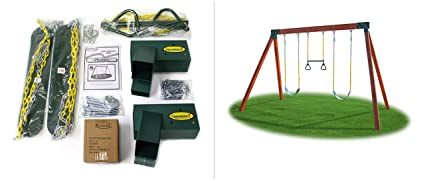 Amazon Com Eastern Jungle Gym Diy Swing Set Hardware Kit With Easy