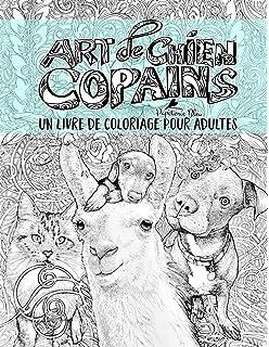 Coloriage Chien Bichon.Amazon Fr Chiens Detailles Livre A Colorier Pour Adulte