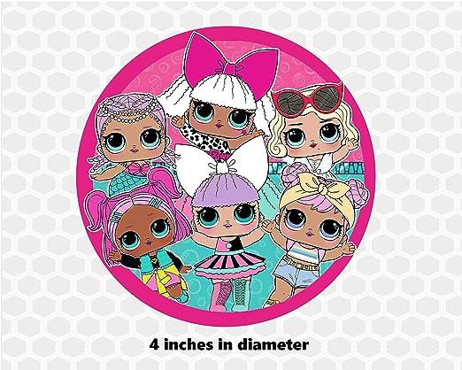 Suprise Dolls - Decoración para tarta redonda de 4.0 in con ...