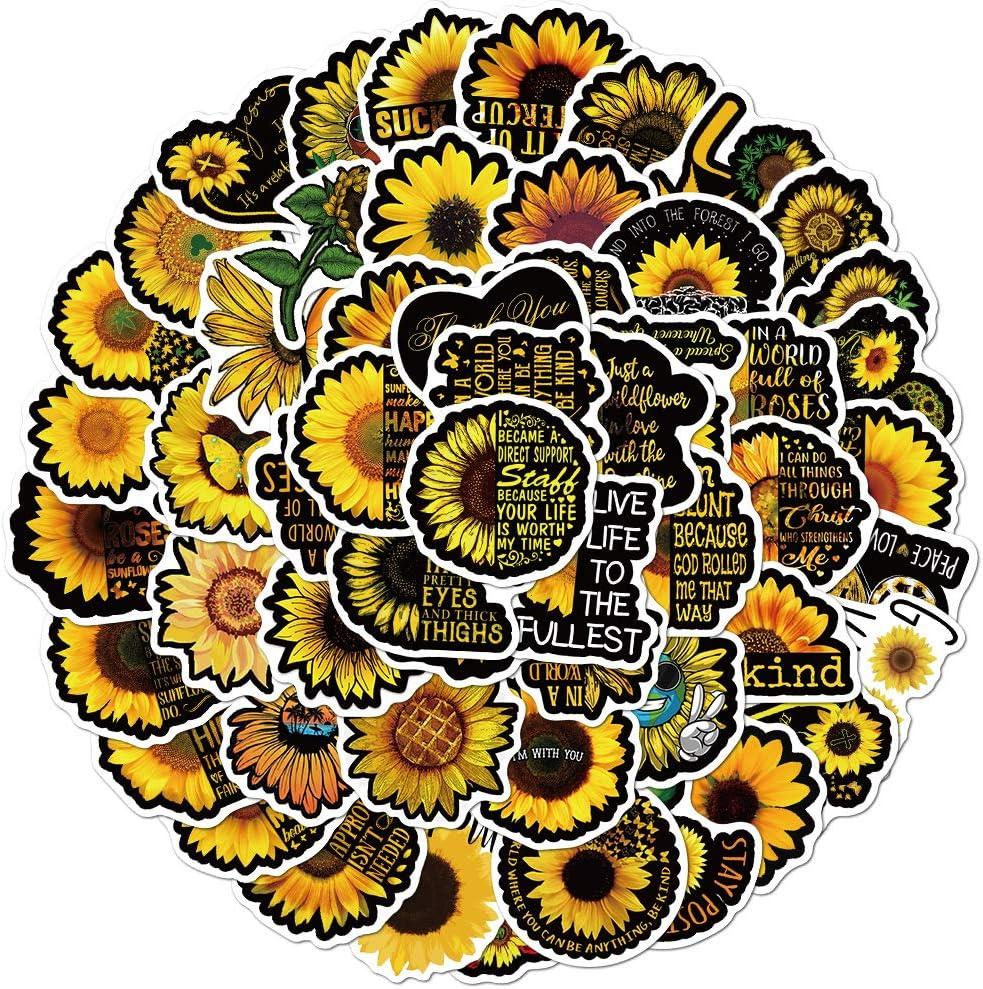 Sunflower Stickers, 100PCS You are My Sunshine Sunflower Decor