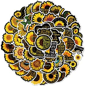 Sunflower Stickers, 100PCS You are My Sunshine Sunflower Decor