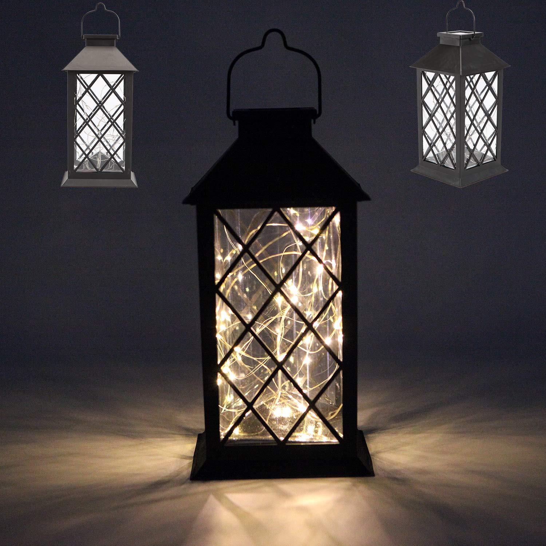 Amazoncom Sunlane Solar Lantern, Outdoor Garden Hanging Lantern Waterproof 30 Warm