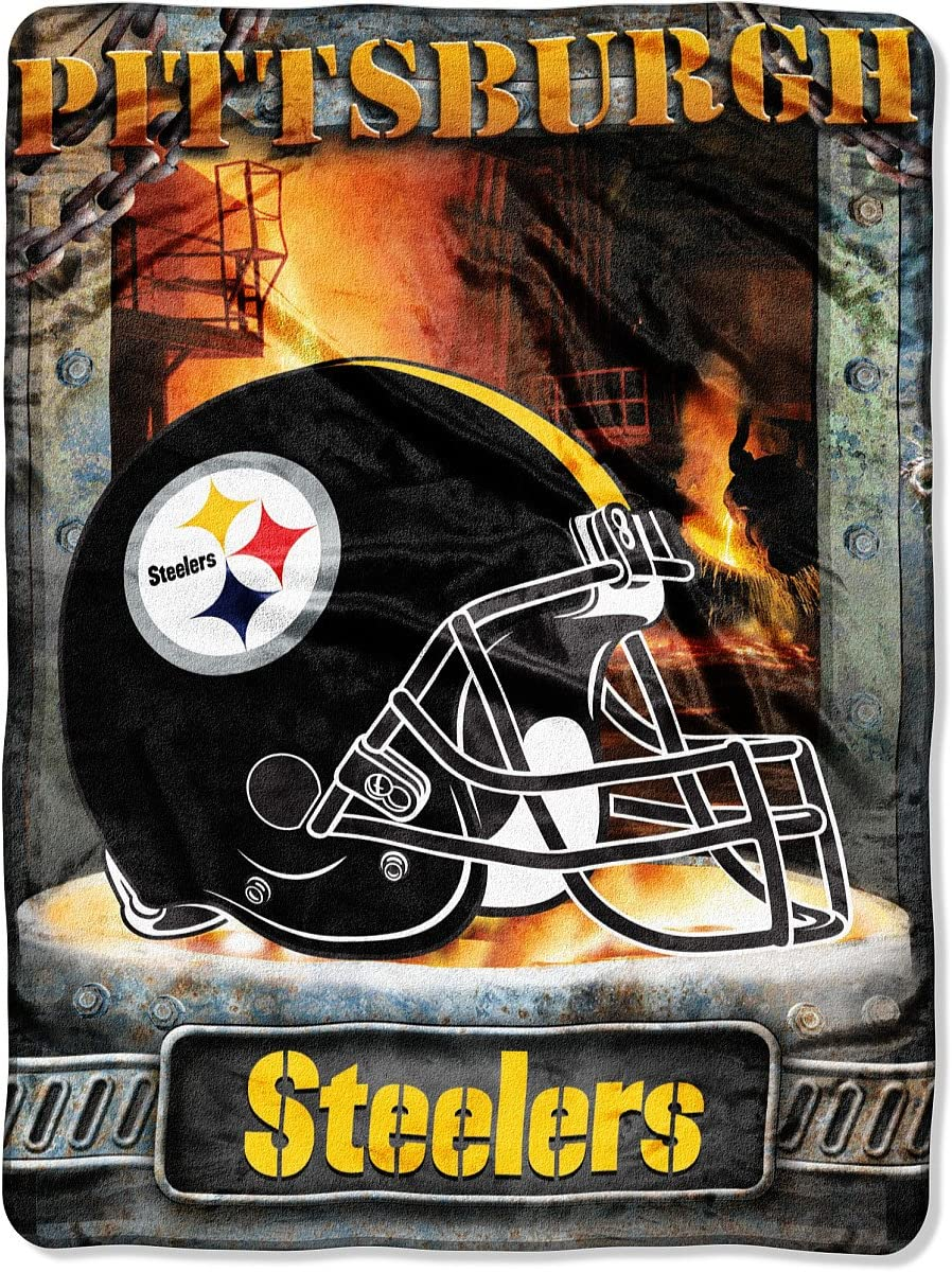 Aggression Style Pittsburgh Steelers 60x80 Royal Plush Raschel Throw Blanket