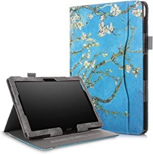 XBE Multifunctional Case for Lenovo Tab M10 TB-X605F TB-X505F / P10 X705F with Multiple Viewing Angles and Hand Holder , Flower