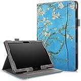 ProElite Smart handstrap Case Cover for Lenovo Tab M10 / Tab P10 (Flowers)