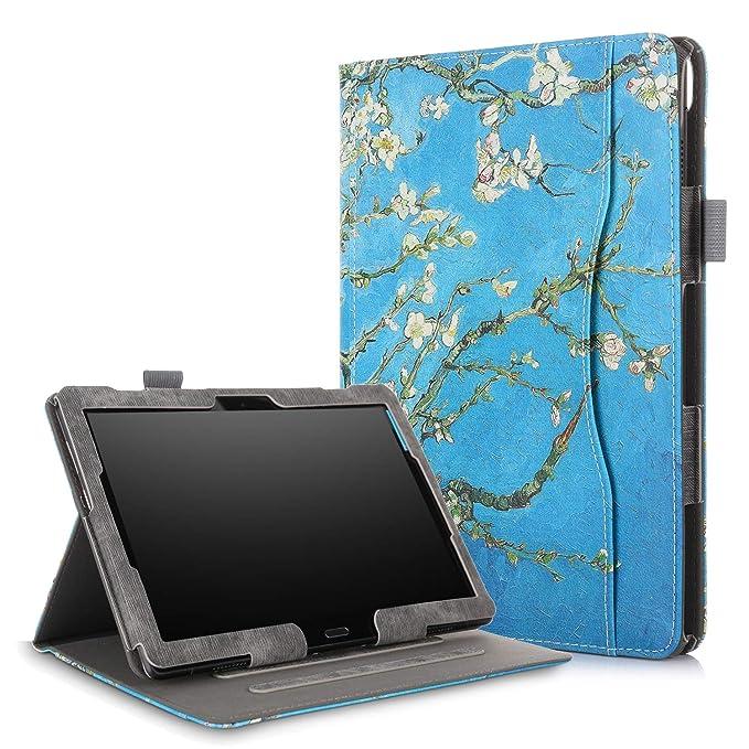 Xuanbeier Funda Multifuncional para Lenovo Tab M10(TB-X505F TB-X505L TB-X605F TB-X605L) / P10 (TB-X705F) 10.1 Pulgadas, Flor