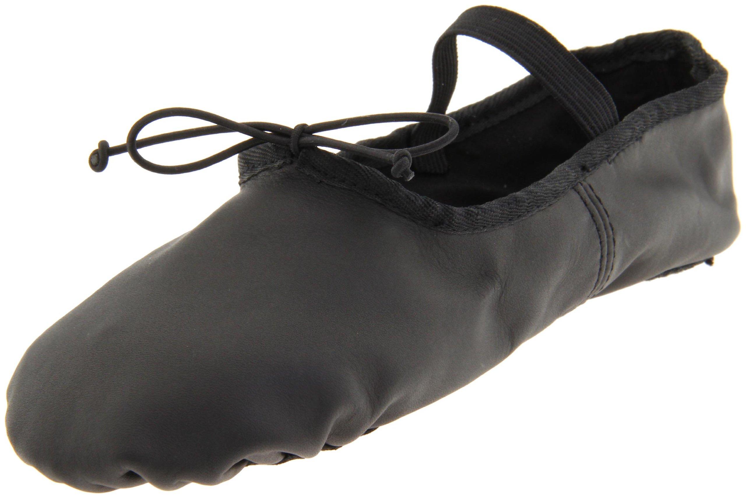 Dance Class Women's B602 Split Sole Leather Ballet Slipper,Black,11.5 M US by Dance Class