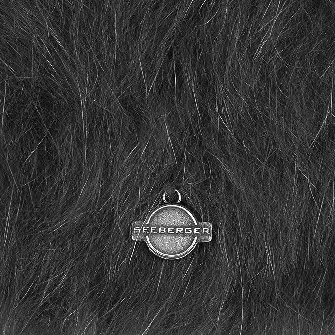 23aff1192d5 Angora Beanie Seeberger beanie winter beanie (One Size - black)   Amazon.co.uk  Clothing