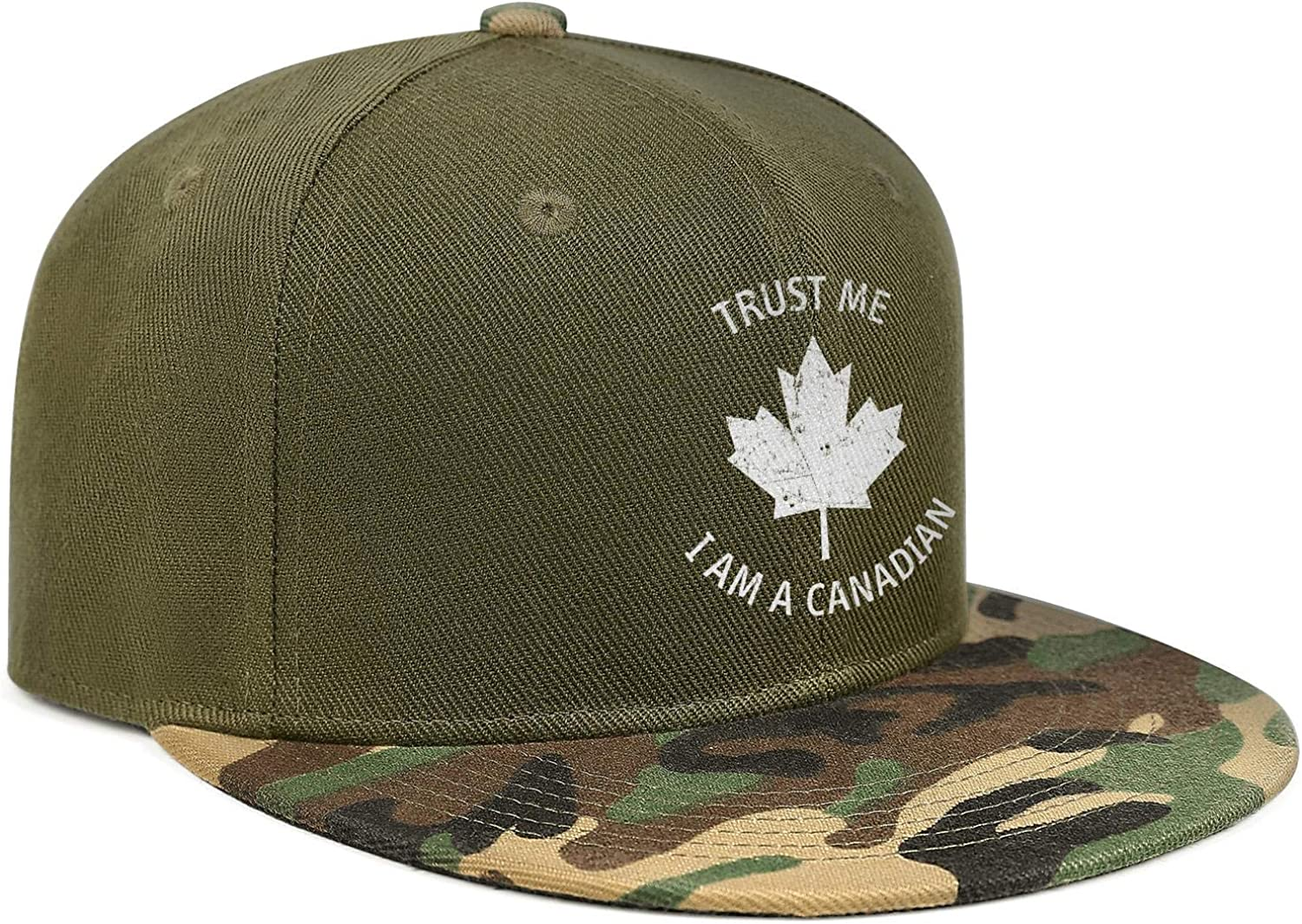 Canada Day Trust Me I Am a Canadian Unisex Baseball Cap Two-Tone Stretch Sport Hats Adjustable Trucker Caps Dad-Hat