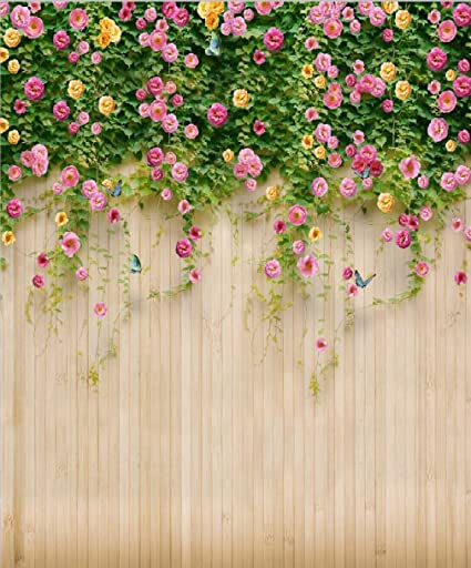 Amazon 8x10 ft spring flower wooden wall backdrop photography 8x10 ft spring flower wooden wall backdrop photography wedding floral plant photo background for booth studio mightylinksfo