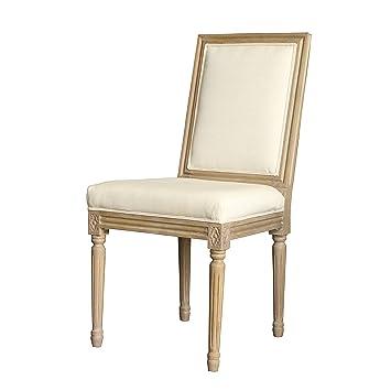 Louis estilo cuadrado backchair para silla de comedor. Tapizado en ...