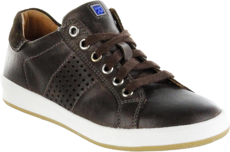 Richter Kinder Halbschuhe Sneaker braun Glattleder Jungen Schuhe 6824-344-9501 Coffee Special
