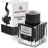 Dryden Fountain Pen Ink Bottle (50 ml) Luxury Edition, (Unforgiving Black) Fountain Pen Bottled Ink. Compact Designed…