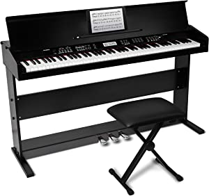 Alesis Virtue | 88-Key Beginner Digital Piano with Full-Size Velocity-Sensitive Keys, Lesson Mode, Power Supply, Built-In Speakers, 360 Premium Voices and 3 Months of Skoove Lessons Included