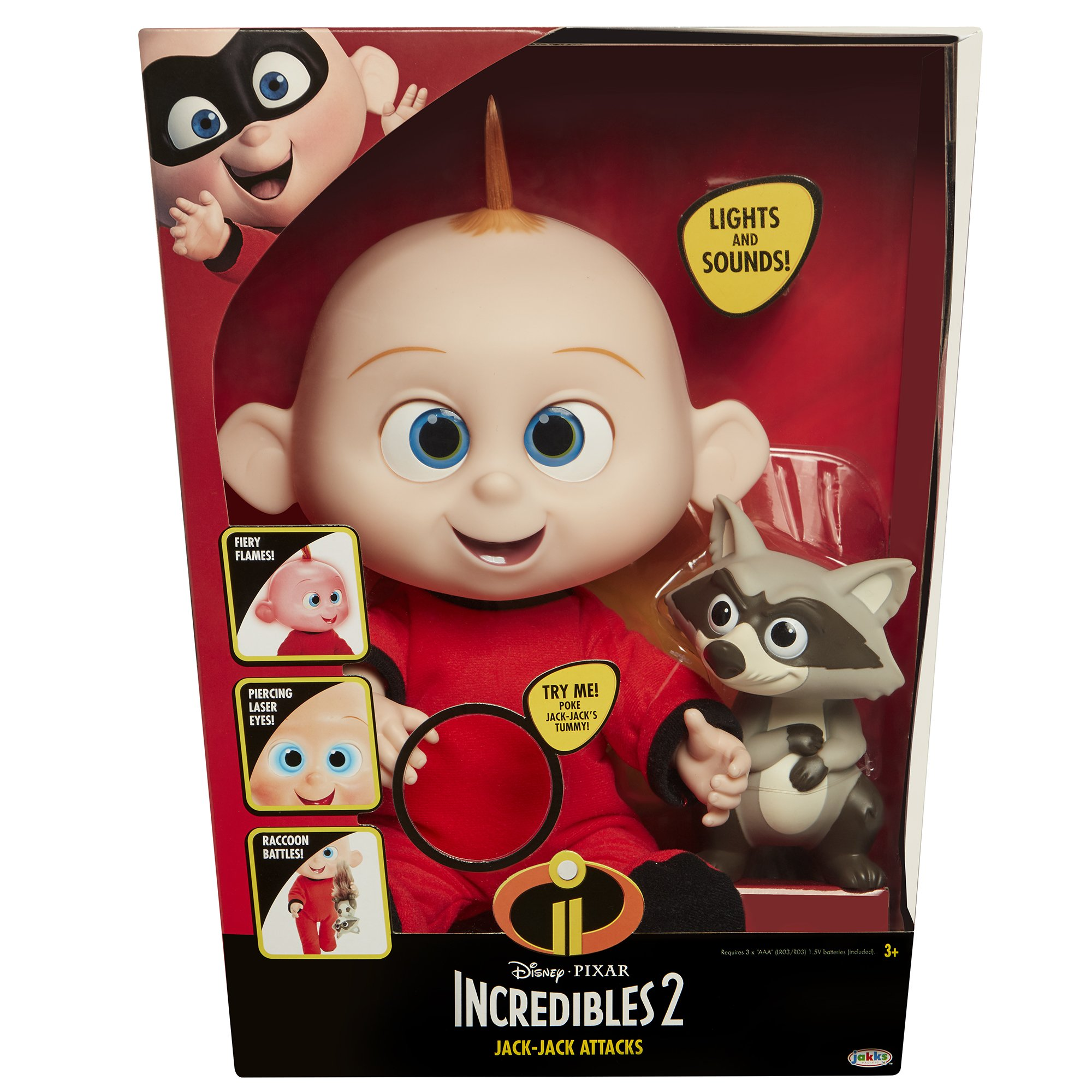 The Incredibles 2 Jack-Jack Plush-Figure Features Lights & Sounds and comes with Raccoon Toy by The Incredibles 2 (Image #7)
